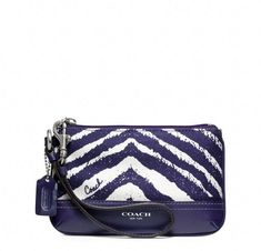 'NWT Authentic Coach Zebra Print Small Wristlet' is going up for auction at  5pm Thu, Aug 22 with a starting bid of $1.