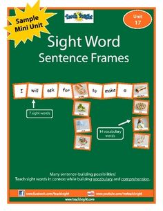 Ready for some sentence-building fun? Want some ideas to move beyond flashcards and Bingo games to teach sight words? Sight Word Sentence Frames te...