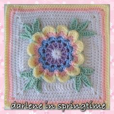Ravelry: Darlene Square pattern by Melissa Green