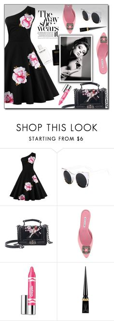 """""""So Pretty: Dreamy Dresses #29"""" by dorinela-hamamci ❤ liked on Polyvore featuring Manolo Blahnik, Clinique and Christian Louboutin"""