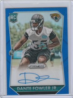 2015 Panini Prizm Football Card Dante Fowler, Jr. Blue Auto /149