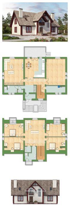 Ev villa projesi 300-008-L | House Expert