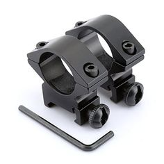 """From 4.43 2pcs Black Low Profile 1"""" 25.4mm Scope Ring Mount 20mm Picatinny Weaver Rail"""