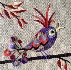 needlepoint bird
