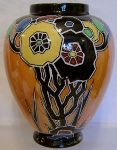 Carlton Ware 'Cubist Butterfly' Vase - Art Deco - 1930s | eBay