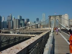 new york...manhattan vanaf de brooklyn bridge