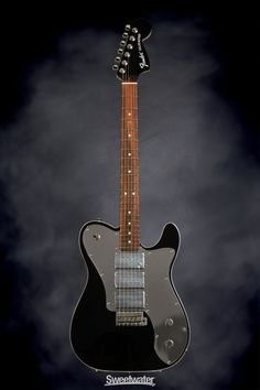 Fender J5 Triple Tele Deluxe | Sweetwater.com | Signature Solidbody Electric Guitar with Alder Body, Maple Neck, Rosewood Fingerboard, and Three Humbucking Pickups - Black