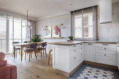 Kitchenette, Kitchen Island, Kitchen Cabinets, Office Supplies, Dining Room, Room Decor, Studio, Interior, House