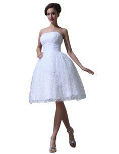 JOLLY BRIDAL White Short Chiffon Lace Wedding Dress Size 20W