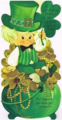 St Patrick's Day Leprechaun boy