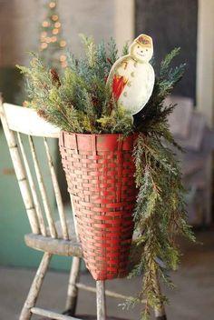 Prim Christmas Basket...Cheryl Slifer's Picks & Pokes.