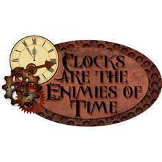 KMRD-Steampunk-tag-clocksaretheenimies.png ❤ liked on Polyvore featuring steampunk, clocks and frames & background