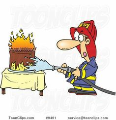 Cartoon firefighter extinguishing a birthday cake. Happy Birthday Meme, Happy Birthday Images, Birthday Cards For Men, Man Birthday, Birthday Greeting Cards, Birthday Memes, Birthday Stuff, Cartoon Man, Happy B Day
