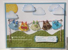 What an adorable baby card!  I am sooo making this!