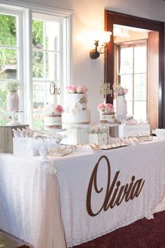 Shabby Chic themed girl's Birthday party by Susan @SugarPartiesLA. Details at paarteez.com.