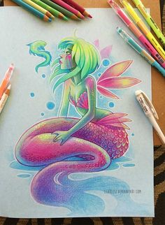Prismacolor Mermaid by Clareesi