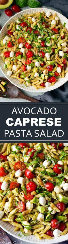Avocado Caprese Pasta Salad - Cooking Classy