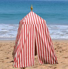 beach tents - red white stripes DEF gonna make one of these for the beach