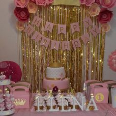 Image gallery – Page 421086633904457642 – Artofit - party - Birthday Decoration 13th Birthday Parties, Diy Birthday, Birthday Party Decorations, Cake Birthday, Gold Party Decorations, Birthday Backdrop, Birthday Ideas, Pink And Gold Birthday Party, Golden Birthday