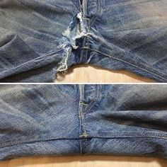 Most current Free of Charge Master Denim Repair & Jeans Restoration with Indigo Proof Strategies I love Jeans ! And a lot more I love to sew my very own Jeans. Next Jeans Sew Along I am likely to Sewing Jeans, Sewing Clothes, Diy Clothes, Sewing Tutorials, Sewing Hacks, Sewing Patterns, Repair Jeans, Patching Jeans, How To Patch Jeans