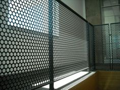 railing perforated steel - Google Search