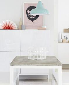 DIY Concrete Coffee Table #coffeetable #coffeetableideas