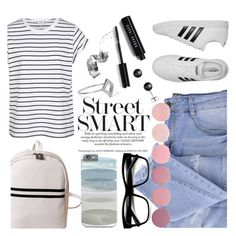 """""""OOTD - Street style"""" by by-jwp ❤ liked on Polyvore featuring Bobbi Brown Cosmetics, Essie, adidas, Noir Jewelry and Deborah Lippmann"""