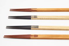 Product designer Yuma Kano and Japanese carpenter Katsuhisa Toda collaborated to create a series of chopsticks inspired by traditional wood joinery techniques.Japanese wood joinery dates back Japanese Joinery, Japanese Woodworking, Wood Interior Design, Wood Design, Reclaimed Wood Projects Signs, Wood Joining, Wood Floor Stain Colors, Japanese Chopsticks, Light Wood Kitchens