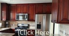 sample kitchen with cherry cabinets