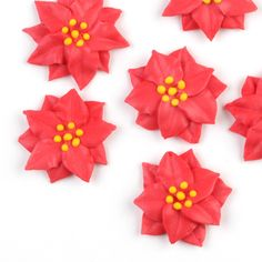 Poinsettia Royal Icing Decorations