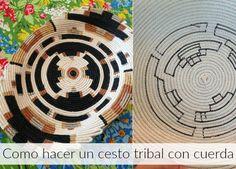 enrHedando: Bandeja tribal de cuerdas en espiral