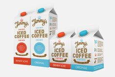Packaging of the World: Creative Package Design Archive and Gallery: Jimmy's Iced Coffee