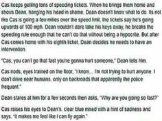 Just read it in their voice and make cas sound sad and miserable. The last line made me feel so bad for cas