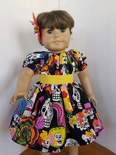 4H Farmgirl Mama /& Baby Duck Sundress Reversible Head Scarf fits American Girl