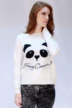 BLUSA CARMIM TRICOT PANDA
