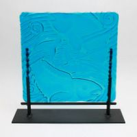 Fish and Surf by Tight Line Glass – Fusion Art Glass Online Store