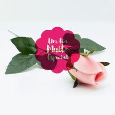 Rosas de Veludo Artificial Rosa Claro 10