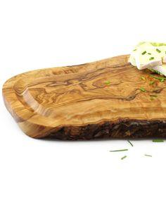 Schneidebrett mit Rille aus Olivenholz 30 cm | treevoli