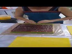 Cara Buat Kue Lapis Gulung Tikar - YouTube