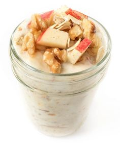 Apple Pie Refrigerator Oats - The Lemon Bowl
