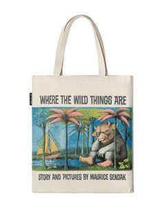 Where the Wild Things Are tote bag- http://www.outofprintclothing.com/collections/totes/products/where-the-wild-things-are-tote