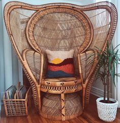 Peacock chair #madlyvintage