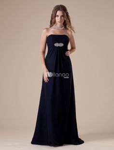 Dark Blue A-line Strapless Elastic Woven Satin Floor-length Evening Dress. You dont have to spend a fortune to look like you did. Milanoo makes it easy to dress your best for less. This gorgeous evening gown is just one example of what we mean. Made from a great elastic woven satin  it has a s.. . See More Strapless at http://www.ourgreatshop.com/Strapless-C967.aspx