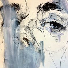 Portrait Art I love Love the sketchy messy and intricate details as well as the use of different mediums, drawing and painting. Abstract Portrait, Portrait Art, Abstract Art, Portraits, Elly Smallwood, Inspiration Artistique, A Level Art, Wow Art, Art Plastique