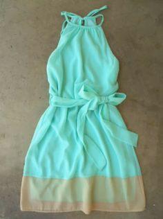 Lovely breezy shoreline mint dress fashion
