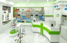 Φαρμακείο Αντωνάκης Ανέστης (Μυτιλήνη) Showroom Design, Interior Design, Reception Desk Design, Counter Design, Cosmetic Shop, Retail Store Design, Spa Design, Layout, Store Fronts