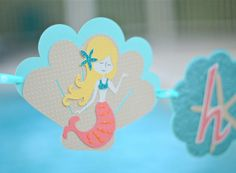 Mermaid banner, mermaid sign, mermaid party ideas by VeroniqueCreations on Etsy https://www.etsy.com/listing/191602383/mermaid-banner-mermaid-sign-mermaid