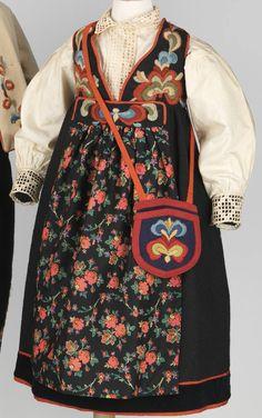 Date: Culture: Norwegian Medium: wool, cotton Norwegian Clothing, American Dress, Folk Clothing, Ethnic Design, Folk Embroidery, Dream Garden, Boy Fashion, Norway, Needlework