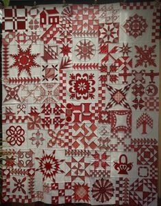 Just Takes 2 by quilting gammy Quilting Projects, Quilting Designs, Two Color Quilts, Farm Quilt, Red And White Quilts, Sewing Circles, Sampler Quilts, Miniature Quilts, Quilt Making