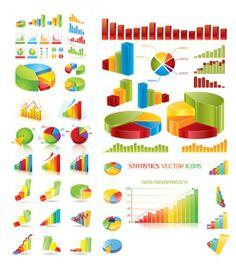estatísticas de material vetor tema